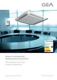 Commerciele brochure Cassette Geko - GEA Happel Belgium