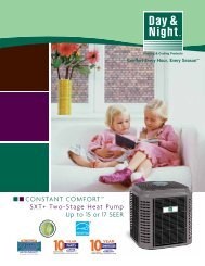 """CONSTANT COMFORTâ""""¢ SXT+ Two-Stage Heat ... - Day & Night"""