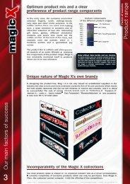 Factor of success: Product range - Magic X