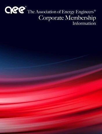 Corporate Membership - Association of Energy Engineers