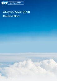 Holiday Offers - Colletts Travel, The Business Travel Specialists