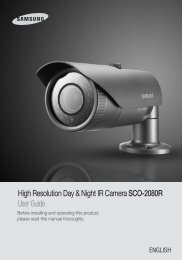 High Resolution Day & Night IR Camera SCO-2080R ... - Samsung