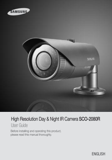 High Resolution Day & Night IR Camera SCO-2080R ... - Samsung
