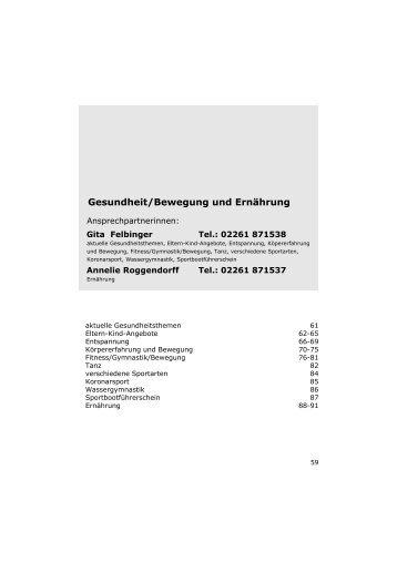 Bitte beachten Sie - Volkshochschule Gummersbach