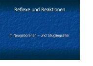 Reflexe und Reaktionen