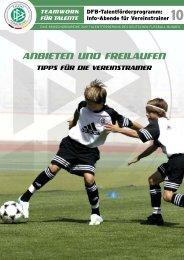 ANBIETEN UND FREILAUFEN - Regiofussball