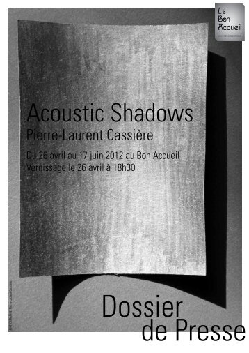 Acoustic Shadows - Université de Rennes 1