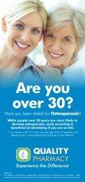 Osteoporosis - Quality Pharmacy