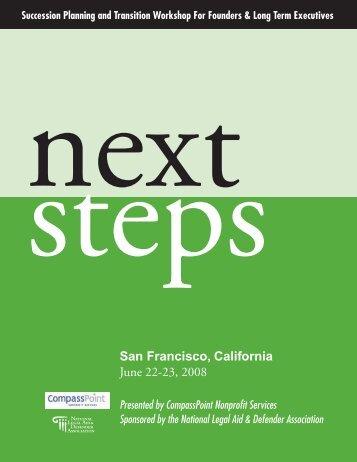 Next Steps - National Legal Aid & Defender Association