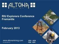 RIU Explorers Conference Fremantle Presentation - Altona Mining