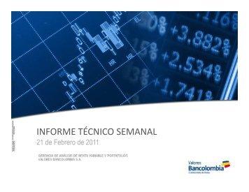 Informe Técnico - Investigaciones Económicas - Bancolombia