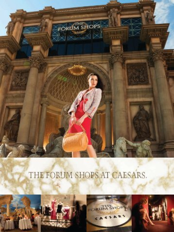 The Forum Shops at Caesars is not only