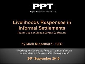 Livelihoods Informal Settlements - MILE