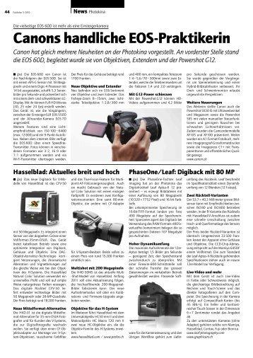 Canon hat gleich mehrere Neuheiten an der Photokina ... - Publisher