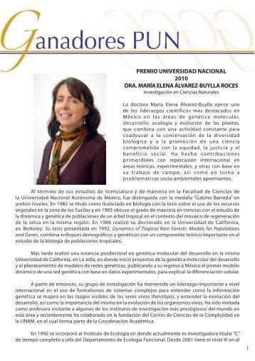 Dra. Ma. Elena álvarez - DGAPA UNAM