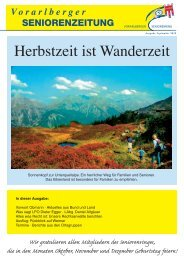 Ausgabe Septmeber 2010 - Vorarlberger Seniorenring