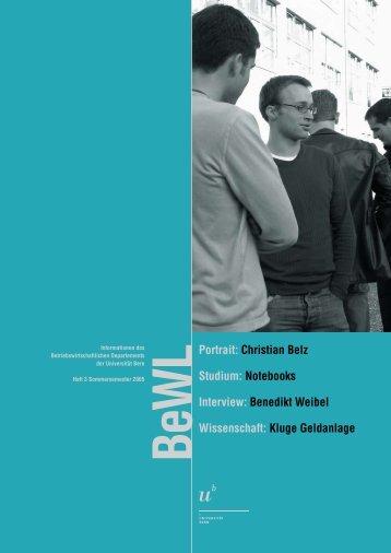 Christian Belz Studium: Notebooks Interview - Departement  BWL ...
