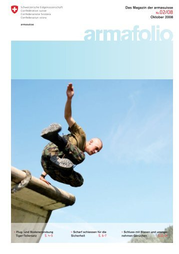 armafolio: Ausgabe Oktober 2008 - Armasuisse