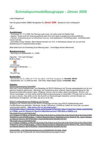 Schmalspurmodellbaugruppe - Jänner 2008 - Schmalspur ...