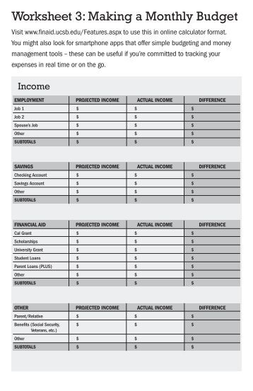 Monthly Expenses Monthly Budget Worksheet 0 Usaa Com