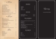 Drinks Menu - Epernay