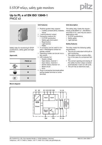 e stop relays safety gate monitors?quality=85 1 emergency pilz pnoz x2 wiring diagram at honlapkeszites.co