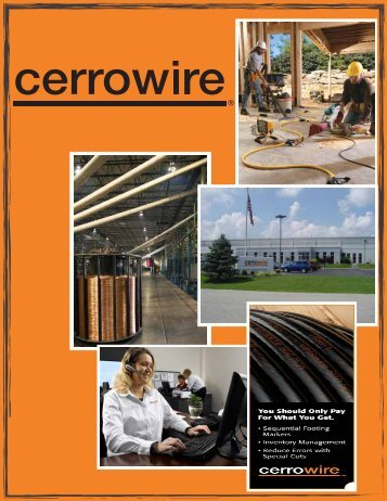 download product catalog pdf - Cerro Wire and Cable Company