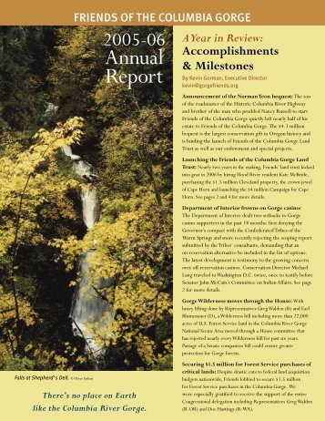 2005-06 Annual Report - Friends of the Columbia Gorge