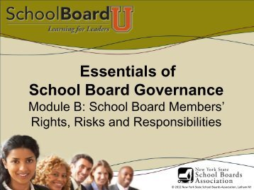 Governance Module B - New York State School Boards Association
