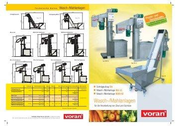 Wasch-/Mahlanlagen - voran Maschinen GmbH