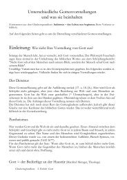 Unterschiedliche Gottesvorstellungen in Geschichte ... - Helmutblatt.de