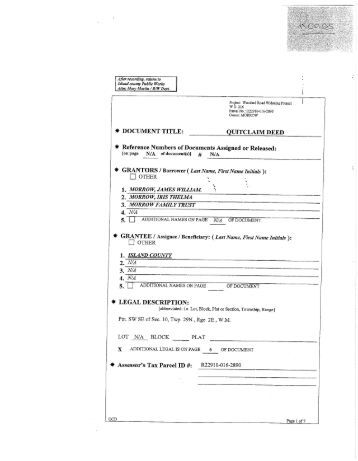 Sample Quitclaim Deed Form Printable Sample Quit Claim Deed Form