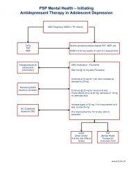 MDD Medications Algorithm - GPSC