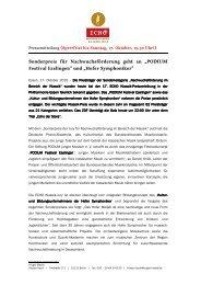 ECHO Klassik - Sonderpreis für ... - Podium Festival