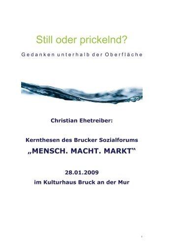 Conclusio Brucker Sozialforum - Sozialhilfeverband Bruck an der Mur