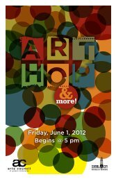 Friday, June 1, 2012 Begins @ 5 pm - Arts Council of Greater ...
