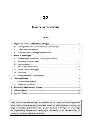 3.2 Trends im Tourismus - Vorarlberg