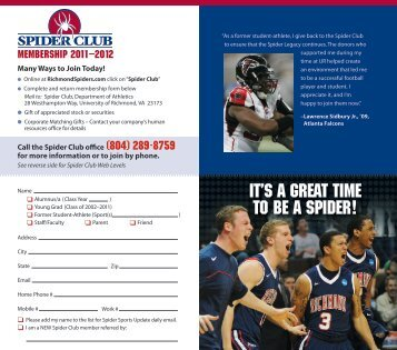 IT'S A GREAT TIME TO BE A SPIDER! - RichmondSpiders.com