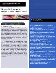 SI 2620 VoIP Gateway - SNOM INDIA
