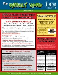 IFAPA Spring Conference