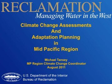 Climate Change Assessments And Adaptation Planning in Mid ...