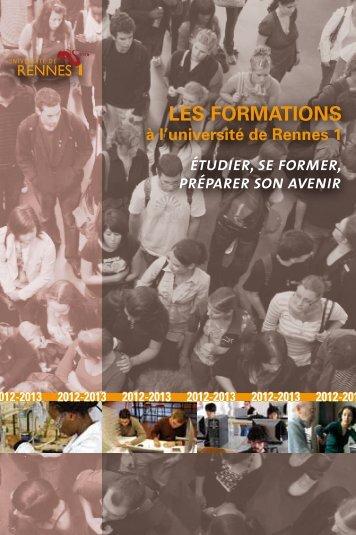 LES FORMATIONS - Université de Rennes 1