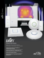 UniFi Datasheet - Ubiquiti Networks