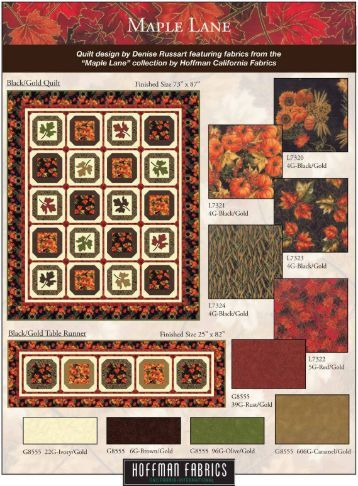 Maple Lane quilt pattern LR