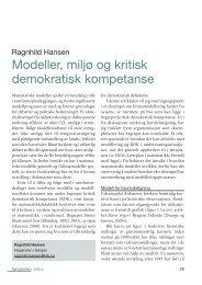 Modeller, miljø og kritisk demokratisk kompetanse - Caspar Forlag AS