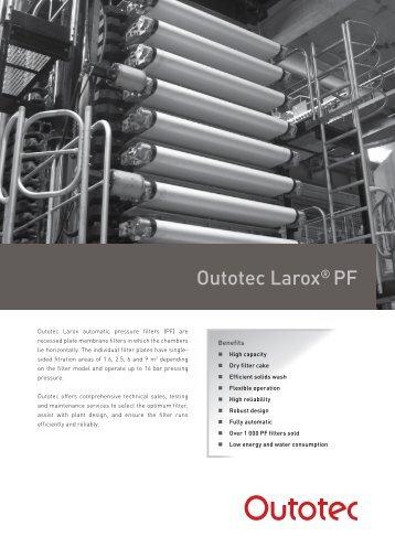 Outotec Larox® PF