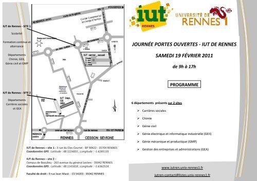 journée portes ouvertes - iut de rennes samedi 19 février 2011
