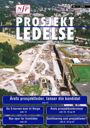 Årets prosjektleder, lanser din kandidat - Norsk senter for ...