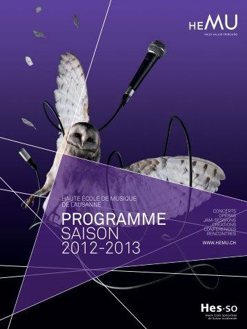 PROGRAMME SAISON 2012-2013 - HEMU
