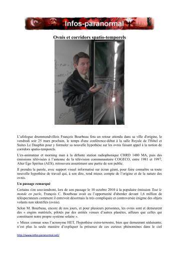 Ovnis et corridors spatio-temporels - Infos-paranormal.net